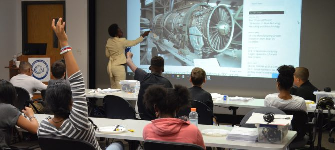 Pratt & Whitney Ambassador Teaches YMA Kids About Rewarding Manufacturing Careers