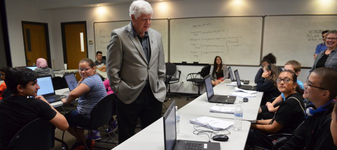 Congressman Larson encourages CCAT Young Manufacturers Academy students to become pioneers