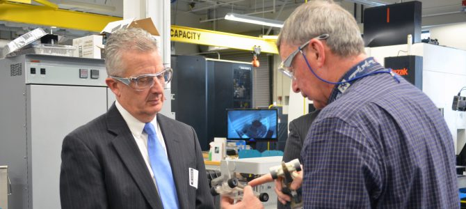 Pratt & Whitney President visits Advanced Manufacturing Center