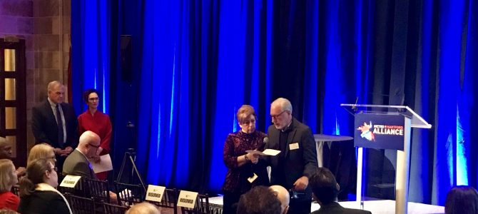 Elliot Ginsberg presented with The Rising Star award from MetroHartford Alliance